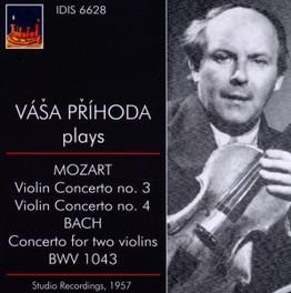 VIOLIN CONCERTO NO.3&4/CO VASA PRIHODA//STUDIO RECORDINGS MOZART/BACH, CD