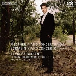 PIANO CONCERTO NO.3 BERGEN P.O./ANDREW LITTON/SUDBIN MEDTNER/SCRIABIN, CD