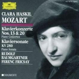 PIANOCONCERT NO.13 AND 2 -FRICSAY/BAUMGARTNER/CLARA HASKIL Audio CD, W.A. MOZART, CD