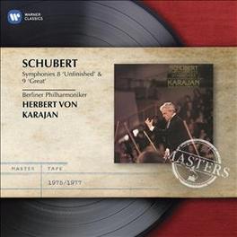 SYMPHONIES NO.8 & 9 HERBERT VON KARAJAN F. SCHUBERT, CD