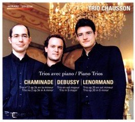 PIANO TRIOS WORKS BY CHAMINADE/DEBUSSY/LENORMAND CHAUSSON TRIO, CD