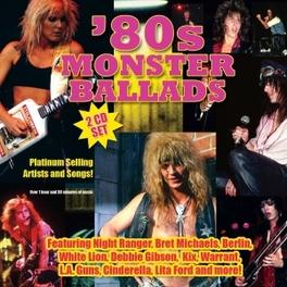 80'S MONSTER BALLADS FT. CINDERELLA/LITA FORD/LA GUNS/RONNIE JAMES DIO/A.O. V/A, CD