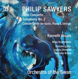 CELLO CONCERTO/SYM.NO.2 ORCHESTRA OF THE SWAN/KENNETH WOODS P. SAWYERS, CD