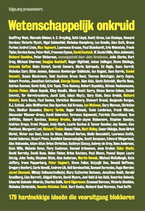 Wetenschappelijk onkruid 179 hardnekkige ideeën die vooruitgang blokkeren, Brockman, John, Paperback