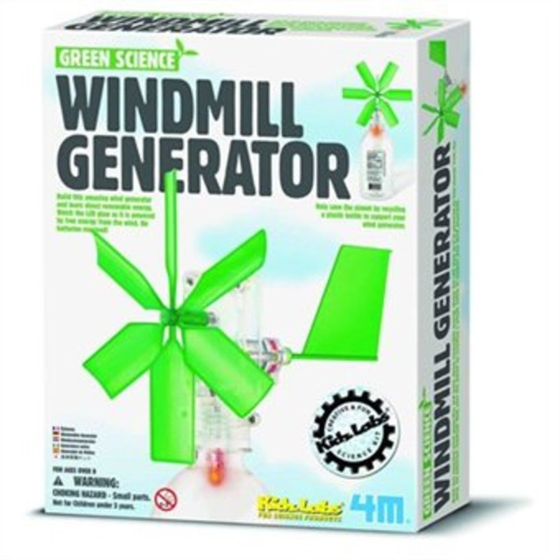 4M KidzLabs GREEN SCIENCE: WINDMOLEN GENERATOR