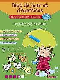 Bloc de jeux et d'exercices - Premiers pas en calcul (5-6 a.) Reconnaître les chiffres - Écrire les chiffres - Compter jusqu'à 20 - Notions de base, ZNU, Paperback