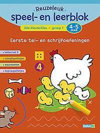 Reuzeleuk speel- en leerblok: Eerste tel- en schrijfoefeningen 2de kleuterklas Groep 1 4-5 jaar Tellen tot 5 - schrijfspelletjes - waarnemen - logicaspelletjes, ZNU, Paperback