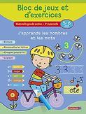 Bloc de jeux et d'exercices - J'apprends les nombres et les mots (5-6 a.)