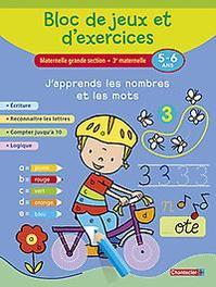 Bloc de jeux et d'exercices - J'apprends les nombres et les mots (5-6 a.) Écriture - Reconnaître les lettres - Compter jusqu'à 10 - Logique, ZNU, Paperback
