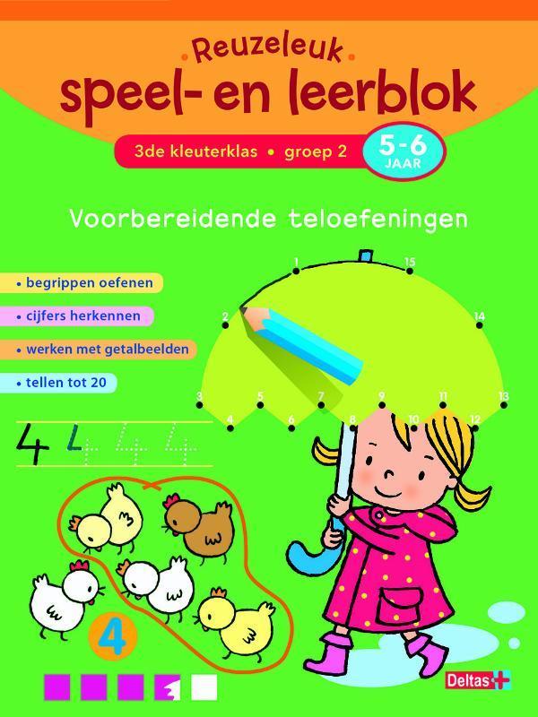 Reuzeleuk speel- en leerblok: 3de kleuterklas Groep 2 5-6 jaar voorbereidende teloefeningen, ZNU, Paperback