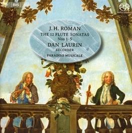 12 FLUTE SONATAS DAN LAURIN/PARADISO MUSICAL J.H. ROMAN, CD