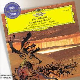 SYMPH. 4-7/SCHWAN VON TUO BP/KARAJAN Audio CD, J. SIBELIUS, CD