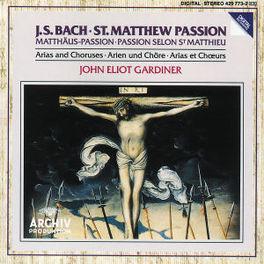 MATTHAUS PASSION ARIAS W/ENGLISH BAROQUE SOLOISTS, JOHN E.GARDINER Audio CD, J.S. BACH, CD