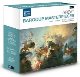 GREAT BAROQUE MASTERPIECE BACH/HANDEL/VIVALDI/TELEMANN... V/A, CD