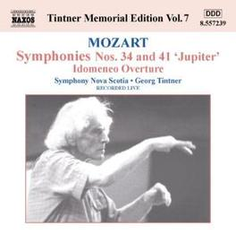 TINTNER MEMORIAL EDITION NOVA SCOTIA S.O. W.A. MOZART, CD