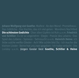DIE SCHOENSTEN GEDICHTE.. .. - GOET/ JUERGEN GOSLAR Audio CD, AUDIOBOOK, CD