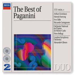BEST OF PAGANINI W/ARTHUR GRUMIAUX, HENRYK SZERYNG, LSO, MONTE CARLO ORC Audio CD, N. PAGANINI, CD