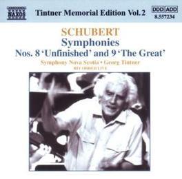 TINTNER MEMORIAL EDITION NOVA SCOTIA S.O. F. SCHUBERT, CD