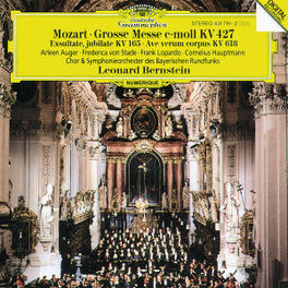 GREAT MASS IN C MINOR AVE AUGER/V.STADE/BERNSTEIN Audio CD, W.A. MOZART, CD