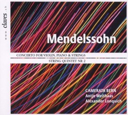 CONCERTO FOR VIOLIN, PIAN ANTJE WEITHAAS, ALEXANDER LONQUICH F. MENDELSSOHN/BARTHOLDY, CD