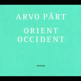ORIENT OCCIDENT Audio CD, A. PART, Audio Visuele Media