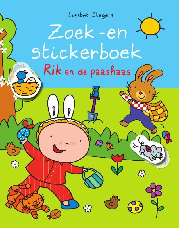 Zoek -en stickerboek Rik en de paashaas Rik, Slegers, Liesbet, Paperback