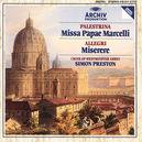 MISSA PAPAE/MISERERE CHOIR OF WESTMINSTER ABBEY/PRESTON
