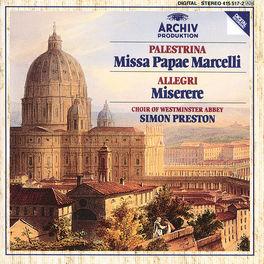 MISSA PAPAE/MISERERE CHOIR OF WESTMINSTER ABBEY/PRESTON Audio CD, PALESTRINA/ALLEGRI, CD