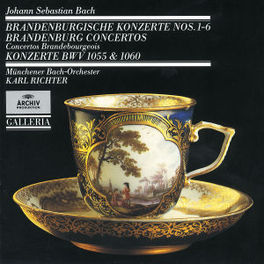 BRANDENBURGSE CONC.NO.1-6 MUNCHNER BACH ORCH./RICHTER Audio CD, J.S. BACH, CD