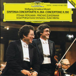 SINFONIA CONCERTANTE PERLMAN/ZUKERMAN/IPO/MEHTA Audio CD, W.A. MOZART, CD