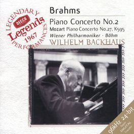 PIANO CONCERTO NO.2&27 W/BACKHAUS, WIENER PHILHARMONIKER Audio CD, BRAHMS/MOZART, CD