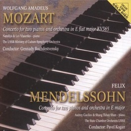 CONCERTO FOR TWO PIANOS A USSR MINISTRY OF CULTURE SYMPH.ORCH./STA Audio CD, MOZART/MENDELSSOHN, CD
