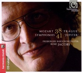 SYMPHONY NO.38 & 41 FREIBURGER BAROCKORCHESTER/RENE JACOBS W.A. MOZART, CD