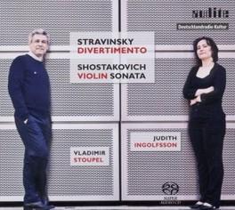DIVERTIMENTO/VIOLIN SONAT STOUPEL/INGOLFSSON STRAVINSKY/SHOSTAKOVICH, CD