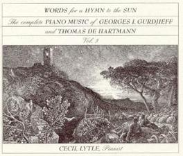 WORDS FOR A HYMN TO... *...THE SUN VOL 3, PIANO MUSIC OF...* Audio CD, CECIL LYTLE, CD