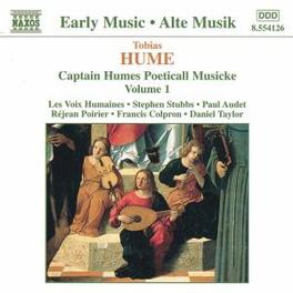 CAPTAIN HUME'S VOL.1 ...POETICALL MUSICKE T. HUME, CD