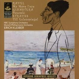 MA MERE L'OYE/PANAMBI/TIL NBC S.O./MUNICH P.O./ERICH KLEIBER Audio CD, RAVEL/GINASTERA/STRAUSS, CD