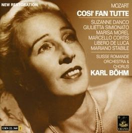 COSI FAN TUTTE SUISSE ROMANDE ORCHESTRA/KARL BOHM Audio CD, W.A. MOZART, CD
