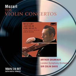 VIOLIN CONCERTOS & SONATA W/GRUMIAUX, DAVIS, LONDON S.O., HASKIL Audio CD, W.A. MOZART, CD