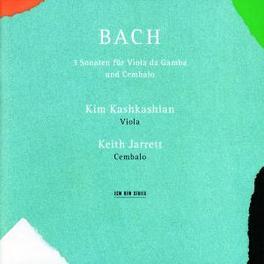 SONATAS BWV 1027-1029 W/KASHKASHIAN, JARRETT Audio CD, J.S. BACH, CD