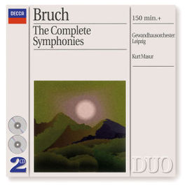 COMPLETE SYMPHONIES W/GEWANDHAUSORCHESTER LEIPZIG, KURT MASUR Audio CD, M. BRUCH, CD