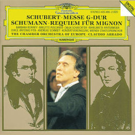 MESSE G-DUR/REQUIEM FUR M ...MIGNON/W/BONNEY, CLAUDIO ABBADO, CHAMBER ORCH.OF EUR Audio CD, SCHUBERT/SCHUMANN, CD