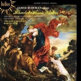 JAMES BOWMAN SINGS HEROIC KINGS CONSORT/ROBERT KING G.F. HANDEL, CD