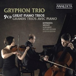 GREAT PIANO TRIOS WORKS BY BEETHOVEN/MOZART/SCHUBERT... GRYPHON TRIO, CD