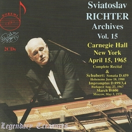 LEGENDARY TREASURES.. CARNEGIE HALL NEW YORK APRIL, 1965 Audio CD, SVIATOSLAV RICHTER, CD