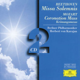 MISSA SOLEMNIS/CORONATION W/BERLINER PHILHARMONIKER, HERBERT VON KARAJAN Audio CD, BEETHOVEN/MOZART, CD