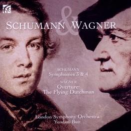 SYMPHONY NO.3 & 4 LONDON SYMPHONY ORCHESTRA/BUTT SCHUMANN/WAGNER, CD