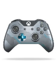 Microsoft Xbox One, Halo 5, Guardians Draadloze Controller (Zilver-Blauw) (Lim (GK4-00007)