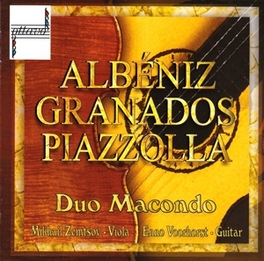 ALBENIZ, GRANADOS &.. ENNO VOORHORST/MIKHAIL ZEMTSOV Audio CD, DUO MACONDO, CD