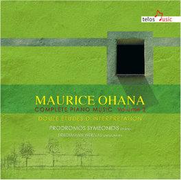 COMPLETE PIANO MUSIC 2 SYMEONIDIS/WERZLAU M. OHANA, CD